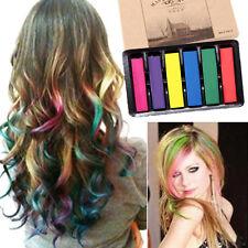 6 Farben/Box vergänglich Haar Kreide praktisch Alkoholfreie Färbemittel Pastell