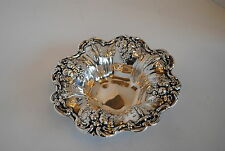 """2 Sterling Silver Reed & Barton Francis I Repousse Bowl X569 3"""" Diameter"""