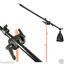 BA02D 75-135cm Lighting Holding Boom Arm tripod Sandbag Telescopic & Lock Nut