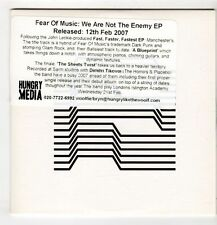 (GU496) Fear Of Music, We Are Not The Enemy EP - 2006 DJ CD