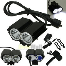 5000 Lumens 2x CREE XM-L U2 LED Cycling Bike Bicycle Light Headlamp HeadLight