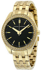 Armani Exchange AX5510 Black Dial Gold Plated Stainless Steel Women's Watch
