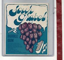 Vintage vending machine display 1c Leaf Sour Grapes gum card Free Shipping #2