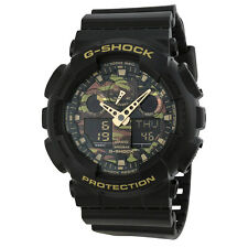 Casio G Shock Analog Digital Dial Black Resin Mens Watch GA100CF-1A9CR