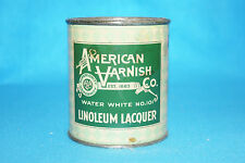 VINTAGE AMERICAN VARNISH CO. LINOLEUM LACQUER TIN - ONE PINT- WATER WHITE - #101
