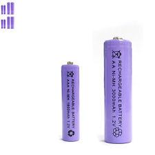 4 AAA 4 AA 1800mAh 3000mAh Ni-MH rechargeable battery Solar Light MP3 Purple