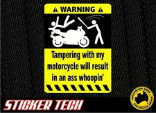 WARNING ROAD BIKE STICKER DECAL SUITS HONDA YAMAHA R1 R6 DUCATI KAWASAKI NINJA