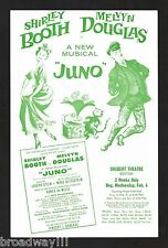 """Shirley Booth """"JUNO"""" Melvyn Douglas / Marc Blitzstein 1959 FLOP Tryout Flyer"""