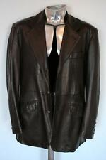 Yves Saint Laurent Dark Brown Leather Jacket EU50 Large RRP£2450 Coat YSL blazer