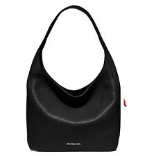 Michael Kors Bag 30S6SL1L7L MK Lena Large Leather Shoulder Bag Black Agsbeagle
