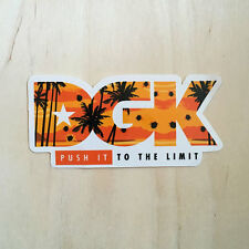 DGK skateboard vinyl sticker Dirty Ghetto Kids Push it to the Limit beach Cali