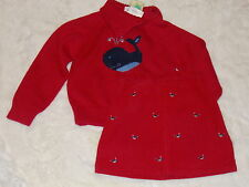 NWT GIRLS RED WHALE WATCHING SWEATER TOP-CORDUROY SKIRT OUTFIT~4-5~GYMBOREE LOT