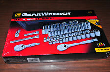 "57 Pc.3/8""Drive SAE& Metric Deep & Standard 6 Pt.Socket Set GearWrench 80550 New"