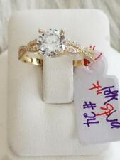 SOLID 18K Japan Gold Engagement Ring - Size 7 /  2.4 g
