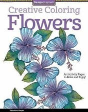 Creative Coloring Flowers Book with Full Color Examples Relax & Enjoy Activities