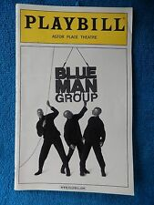 Blue Man Group - Astor Place Theatre Playbill w/Ticket - July 6th, 2003 - Wink