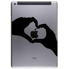 Apple IPAD 2 3 Air + HEART + Adesivo STICKER SKIN decal + cuore mano