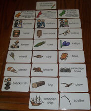 US Colonies Laminated Flashcards.  Preschool thru 4th grade educational activity