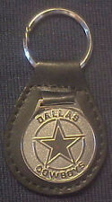 DALLAS COWBOYS  LOGO EXECUTIVE LEATHER KEY RING, NEW AND NICE