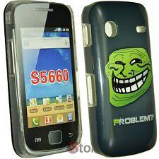 Cover Custodia Per Samsung Galaxy GIO S5660 Problem? Meme Troll Face + Pellicola
