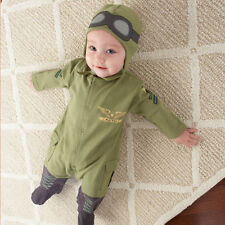 "Baby Pilot Two-Piece Layette Set in Gift Box Air Force ""Big Dreamzzz"" Baby Aspen"