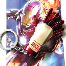Marvel Iron Man The palm of the hand original color Metal Key chain ring 8cm
