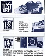 Amateur Photographer Magazine Camera Test Reports , MINOLTA XM XK , XE-1 & XE-5