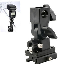 B Type Hot Shoe Flash Umbrella Holder Swivel Light Stand Bracket For Camera AO