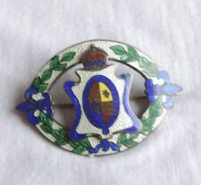 Vintage Brooch Pin Jewelry Sterling Silver Enamel French Fleur De Lis (xx968)