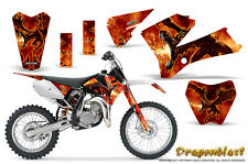 KTM SX85 SX105 2006-2012 GRAPHICS KIT CREATORX DECALS DRAGONBLAST