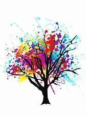 Peinture splat Arbre Abstrait Rainbow photo Art Imprimé Poster Photo bmp514a