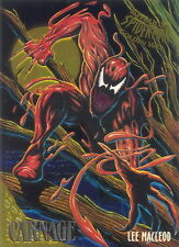 SPIDER-MAN 1995 FLEER ULTRA GOLDEN WEB INSERT CARD 2 OF 9  CARNAGE BY MACLEOD MA