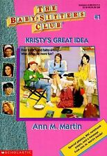 Kristy's Great Idea (The Baby-Sitter's Club #1) by Ann M. Martin, Good Book