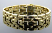 Cartier 18K Solid Gold 3 Row Panther Bracelet with Cartier Box