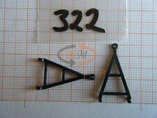 2 x ALBEDO Ersatzteil Ladegut Deichsel schwarz für Anhänger H0 1:87 - 0322