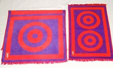 Vintage Yves Saint Laurent Towel Set Field Crest 1970's 100% Cotton Made in USA