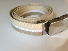 Fashion Multi Beige uniform Military Army Cotton Web Belt-One size fit all