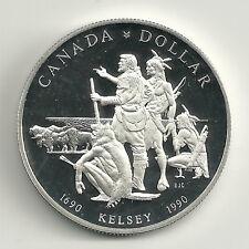 Canada 1 Dollar Silber 1990 Kelsey Elizabeth II. Kanada PP