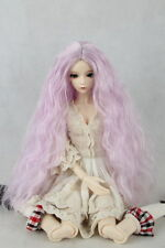 "7-8"" Purple Heat resisting Fiber Wig curly Long Hair for 1/4 BJD Doll Dollfie"