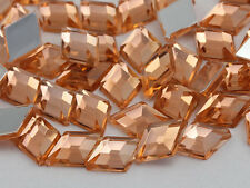 10x7mm Orange Peach .PCH Flat Back Diamond Acrylic Gems - 100 Pieces