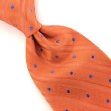 ANONYMOUS POLKA DOTS Striipe Vibrant ORANGE BLUE Men Necktie Ties I1-1199 New
