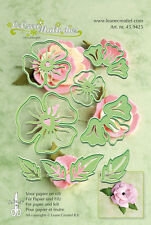 Leane Creatief cutting and embossing die set - flower 005  - 8 die set