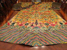 A RARE AND VERY IMPORTANT EMBROIDERED FORMAL DRAGON ROBE QING DYNASTY.