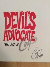 SIGNED The Art Of Coop Devil's Advocate  Hardcover + Photo