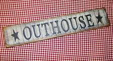 "Beautiful Rustic Primitive Sign/ Shelf sitter ""Outhouse"" Country Home Decor"
