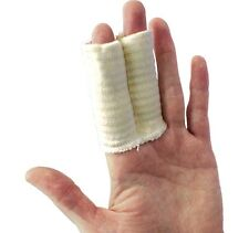 Tubular Twin Finger Support - Large - 7.5cm -Prevents Injury -Good for Arthritis