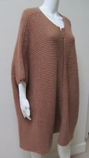 The Row Oversize Camel Dolmain Sleeves Front Zipper Long Coat/Sweater.Fits All