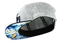 Nebelkind Snapback Cap grau mit blauem Schirm und Pillenmuster onesize unisex
