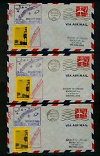 *3* Lincolnville Maine Sept 24 1960 Lobster IV Rocket Mail Covers - Perf/Imperf