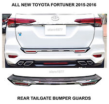 ALL NEW TOYOTA FORTUNER SUV 2WD 4WD REAR TAILGATE BUMPER GUARDS COVER 2015-2016